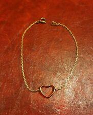 Bracelet Cœur en plaqué or  (545)