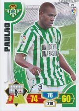 N°075 PAULAO BRAZIL REAL BETIS AS.SAINT-ETIENNE CARD PANINI ADRENALYN LIGA 2014