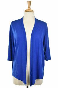Jenny Women Sweaters Cardigans LG Blue Polyester