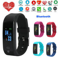 Bluetooth Fitness Smart Watch Activity Tracker Heart Rate For Fitbit Android iOS