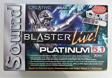 CREATIVE LABS SOUNDBLASTER LIVE PLATINUM 5.1 - SB0060P - USED