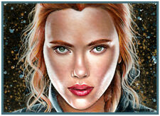 ACEO original Black Widow Natasha Scarlett Johansson Avengers Marvel M. Mishkova