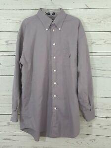 Nautica Men's Button Down Shirt  Purple Long Sleeve Size 16 32/33 Free Shipping