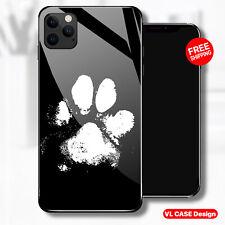 Cool Dog Paw, Dog Lover Glass Phone Case Samsung Huawei iPhone Xiaomi Gif Idea