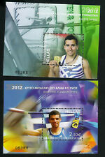 GREECE 2012 - GREEK GOLD MEDALS  - 2  NUMBERED MINIATURE SHEETS  -MNH