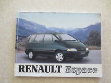 1990s Renault Espace owners manual