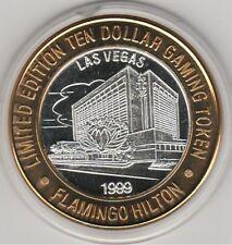 1999 Flamingo Hilton Casino no rt cloud .999 Fine Silver Strike $10 Casino Token