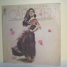 "33T CARMEN Bizet Disque LP 12"" Rise STEVENS JOBIN WEEDE -COLUMBIA 32102 Operette"