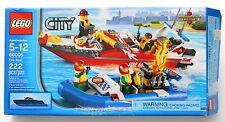 A LEGO City 60005 Fire Boat Building Toy Set 222 Pcs