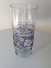 Milano Romanian Crystal Stained Glass Highball Drinking Glass