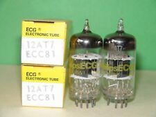 Unused NIB Pair Sylvania Philips ECG 12AT7 ECC81  Vacuum Tubes