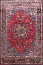 Vintage Traditional Floral Kashmar Area Rug Red Living Room Hand-made Wool 9x12