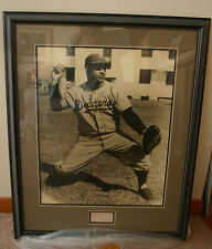 1950's ROY CAMPANELLA(Dodgers) Framed Photo/Signed Index Card - AWESOME!  (0016)