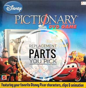 Disney Pictionary DVD Game Replacement Parts - Cards, Disc, Pens, Die - You Pick