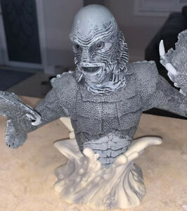Universal Monsters Creature From the Black Lagoon Bust Bank  Black And White New