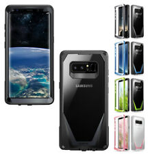 For Galaxy Note 8 Case,Poetic Clear PC Back TPU Bumper Drop Protection Cover