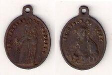 Medal Medaglia Devozionale Madonna del Rosario / S.Cuore di Gesù '800
