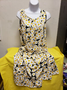 Lularoe XL white daisy sundress   Pre-owned