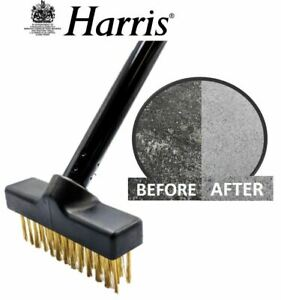 Harris Wire Broom Stiff Deck Scrub Paving Moss Remover Patio Weed Brush Head