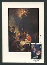 SPAIN MK 1970 NAVIDAD WEIHNACHTEN CHRISTMAS MAXIMUMKARTE MAXIMUM CARD MC c9136