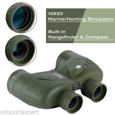 Waterproof 10x50 Boating Binoculars With Range Finder/compass Hunting Telescope