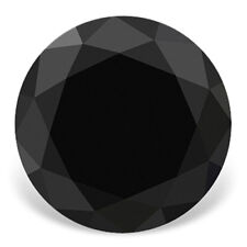Genuine 10Ct-14Ct 15mm-17mm Jet black Round Brilliant Cut loose Real Moissanite