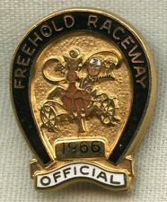 Low Numbered 1966 Freehold Raceway Horse Track Official Badge