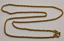 """24K Solid Gold Rope Chain Necklace 18"""" 11.9 Grams"""