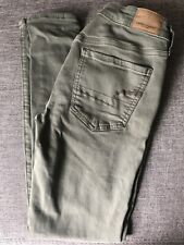 Army Green American Eagle Super Stretch X Size 4 Womens Jeans Jeggings
