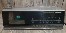 Vintage Panasonic TRF-438P Desktop TV FM AM Radio Alarm Clock 1985 Tested Works