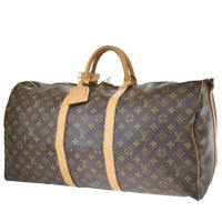 Auth LOUIS VUITTON Keepall Bandouliere 55 Hand Bag Monogram Brown M41414 84MG912