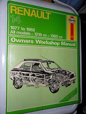 RENAULT 14 WORKSHOP MANUAL BASE TL GTL TS LS SAFRANE 1977 - 1982 4/5 SPEED HAYNE