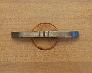 """Art Deco Drawer Pull 1 1/4"""" Bore Brass Bakelite 1930s Gold Orange Rare"""