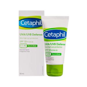 Cetaphil UVA/UVB Defence SPF 50+ Daily Facial Moisturiser Sunscreen 50ml