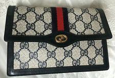 Autentic Vintage GUCCI Clutch Tasche Blau PVC Leder bag borsa vintage