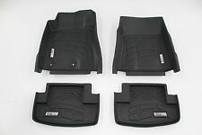 Front & Second Black Floor Mats for a 2015 - 2017 Ford Mustang