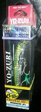 YO-ZURI●crystal 3D minnow floating LURE●Holographic Green Mackerel●3 1/2 inch