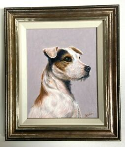 John Silver Original Oil On Board A Terrier Portrait