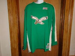 Philadelphia Eagles Mitchell & Ness Throwbacks 100th Anniversary XL Long Sleeve