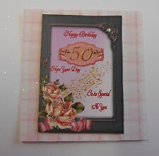 2 pack 50 happy birthday frame trim for cards/crafts