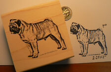 "Pug puppy rubber stamp 2.5x2"" NEW  P10"