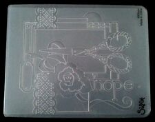 Sizzix Large 4.5x5.75in Embossing Folder SEWING fits Cuttlebug & Wizard