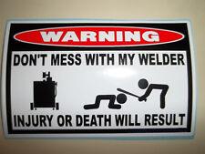 FUNNY WELDER WELDING ROD MIG TIG ARC WIRE HELMET ELECTRODES STICKER DECAL DM 782