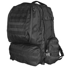 Tactical Military Advanced 3-Day Combat Modular MOLLE Backpack - SWAT BLACK