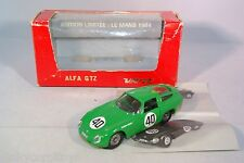 VEREM 605 ALFA ROMEO GTZ LE MANS 1964 GREEN MINT BOXED RARE SELTEN RARO!