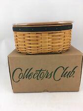 Longaberger 2001 Collectors Club Shaker Harmony #1 Basket w Protector Lid Nib
