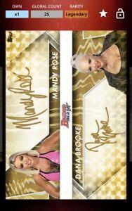 TOPPS WWE SLAM Mandy Rose Dana Brooke Bowman Gold Refractor Signature Digital
