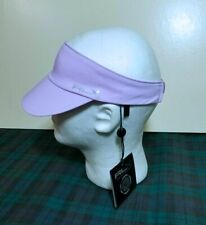 "RALPH LAUREN RLX WIDE-BRIM TWILL ""PALE PURPLE"" VISOR HAT OSFA"
