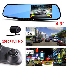 170°HD 1080P Car Dual Lens DVR Vehicle Front Rear Video Recorder Dash Cam Camera