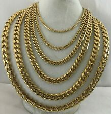 """Real 14k Gold Filled 6-side Hammered Cuban Curb Link Chain Necklace Y 3-13mm 24"""""""